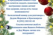 Дед Мороз поздравит ЛИЧНО