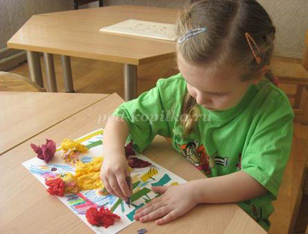 Аппликация для развития детей в фото и видео уроках